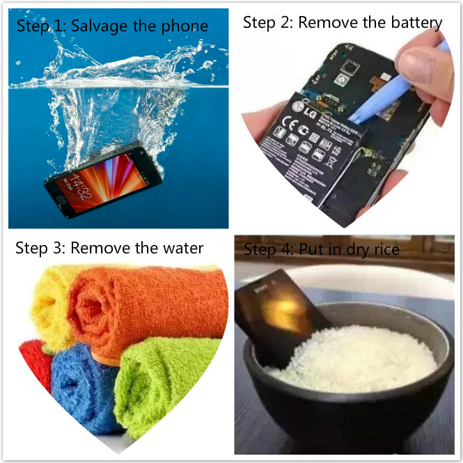 save your phone with rice