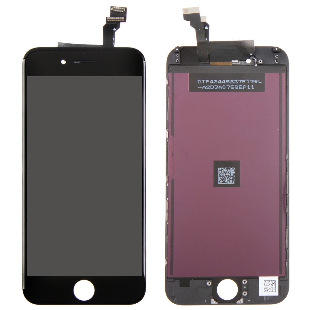 Replacement Part for Apple iPhone 6 LCD Screen and Digitizer Assembly with Frame - Black - A Grade (3.)