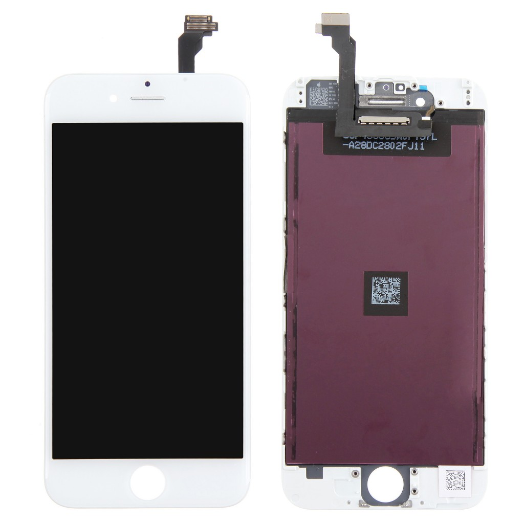 Replacement Part for Apple iPhone 6 LCD Screen and Digitizer Assembly with Frame - White - A Grade (1.)