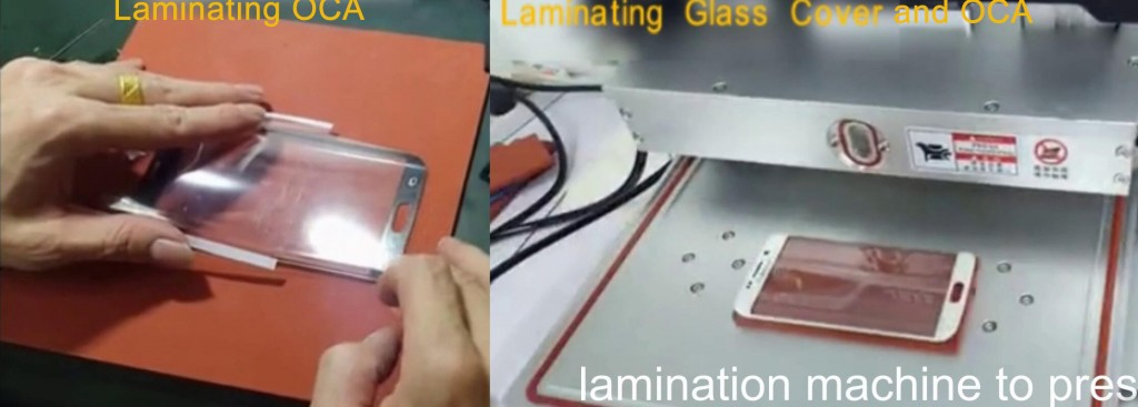 laminating oca and glass lens