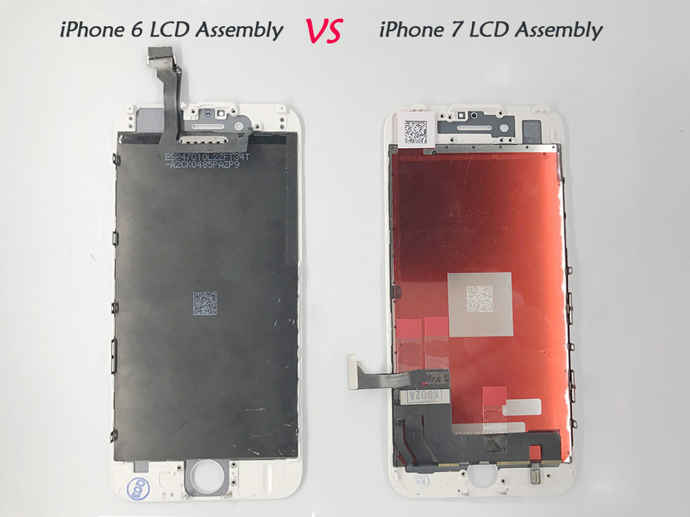 iPhone 6 VS iPhone 7 LCD assembly