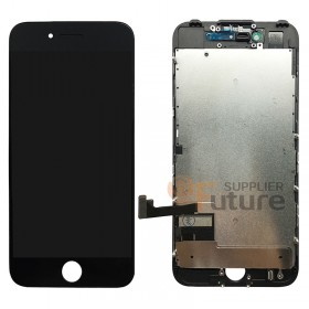 For iPhone 7 LCD & Digitizer Assembly with Frame and Metal Plate - Black - High Quality