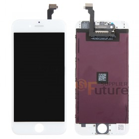 For iPhone 6 LCD & Digitizer Assembly with Frame (Cold Glue) - White