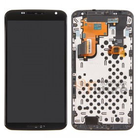 For Motorola Nexus 6 LCD & Digitizer Assembly with Frame - Black - Without Any Logo - High Quality