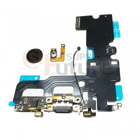 For iPhone 7 New Design Charging Port Flex Cable With Black Home Button Flex Cable - Black