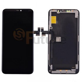 For iPhone 11 Pro Max LCD Screen Digitizer Assembly with Frame - Black - High Quality