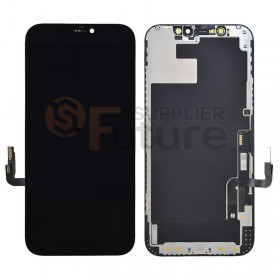 iPhone 12/12 Pro OLED Screen Digitizer Assembly with Frame Black