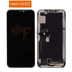 iPhone X Hard OLED Screen Digitizer Assembly with Frame Black