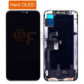 iPhone XS Hard OLED Screen Digitizer Assembly with Frame Black