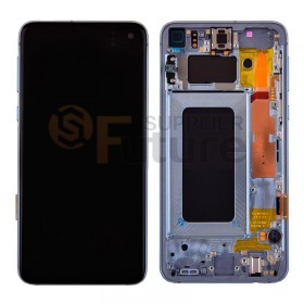 For Samsung Galaxy S10e SM-G970/G970U/G970F LCD & Digitizer Assembly with Front Frame - Blue - High Quality