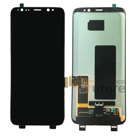 For Samsung Galaxy S8 G950/G950U/G950A/G950V/G950T/G950P/G950F LCD & Digitizer Assembly - Black - Without Logo - High Quality