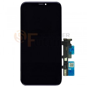 For iPhone XR LCD Screen Digitizer Assembly with Frame - Black - High Quality